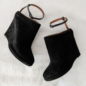 Givenchy Suede Ankle Strap Mule Booties